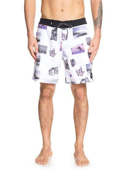 '-Quiksilver- Men's Apparel - Boardshorts 30 / White Z-Quiksilver - Secret Ingredient Beachshort 18