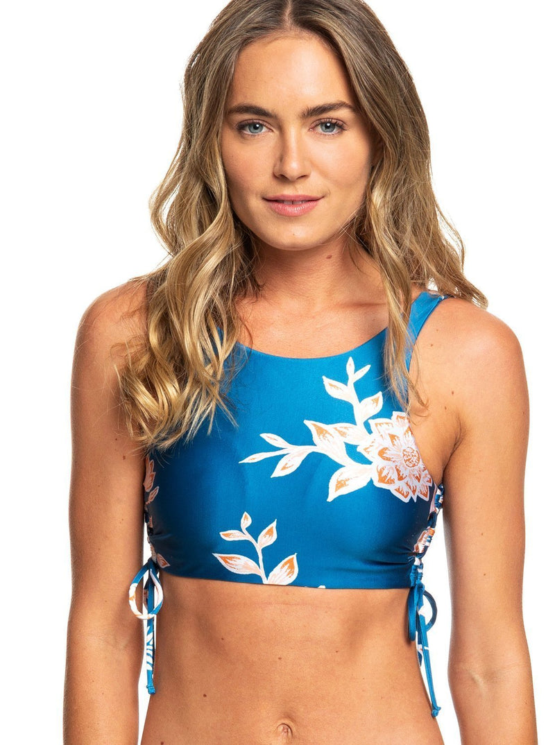 '-ROXY- Women's Apparel - Swimwear X-Small / Mykonos Blue S Eglantine Z-ROXY - Riding Moon Crop Top