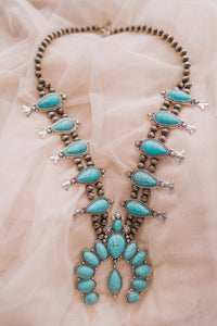 Turquoise Drip Necklace (1 of 1)
