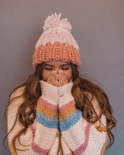 Strawberry Cream Puff Chunky Knit Beanie