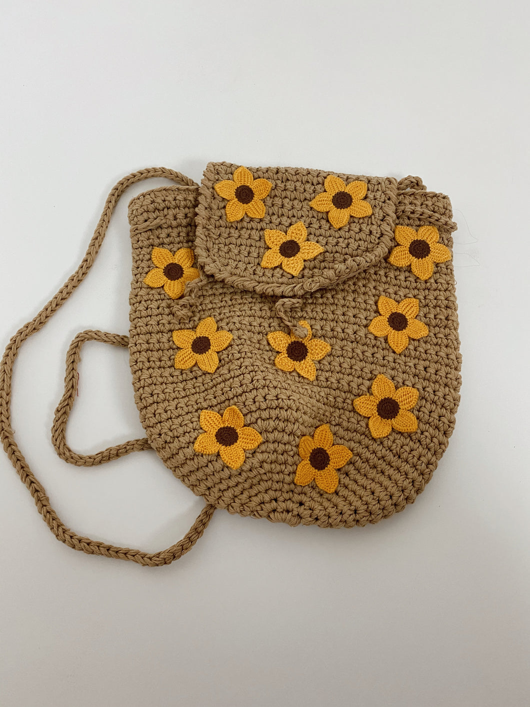 Sunflower Baby Crochet Backpack