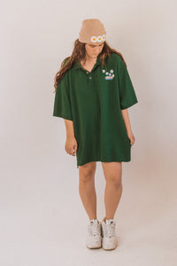 Green Daisy T shirt Dress