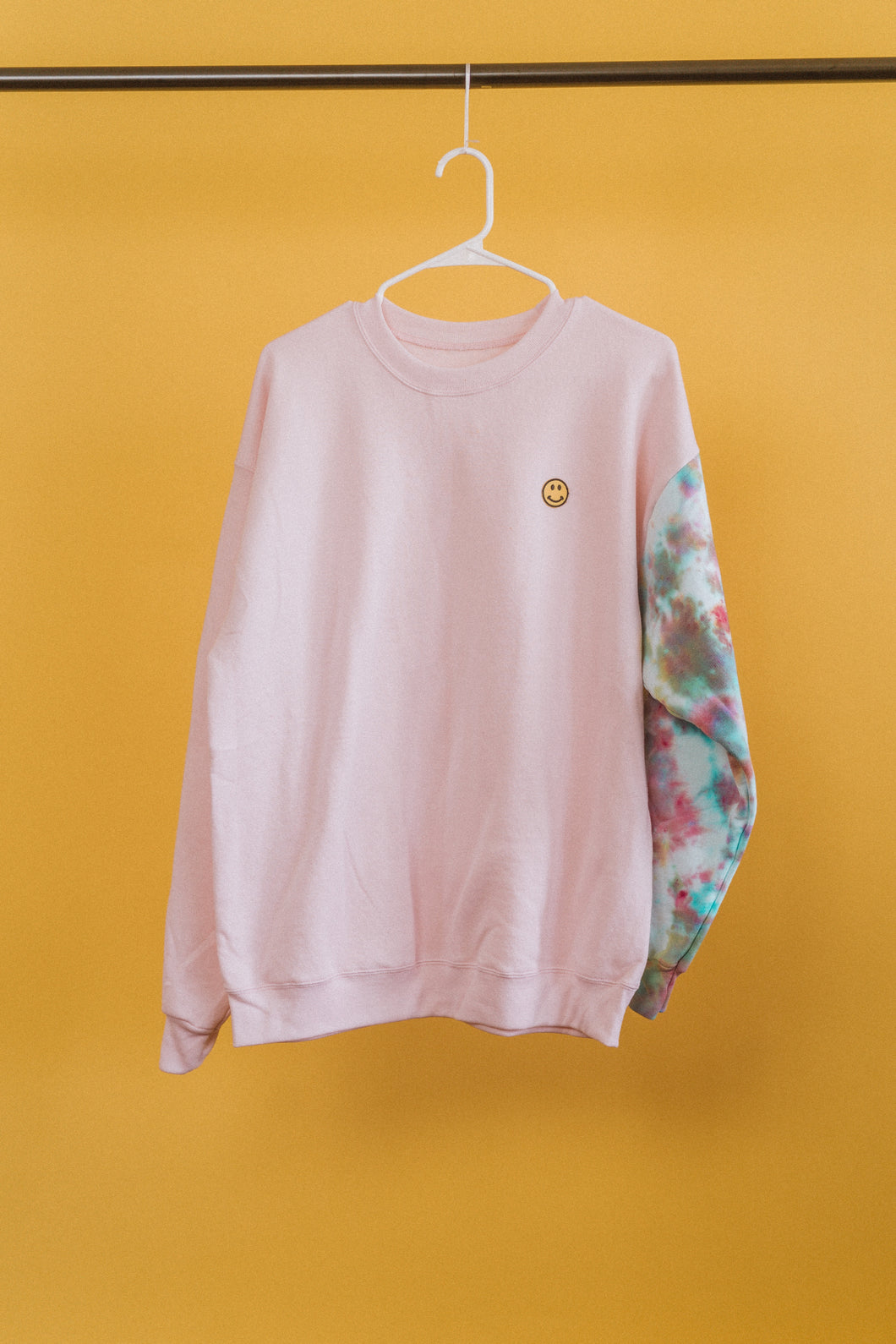 Pink Smiley Crewneck