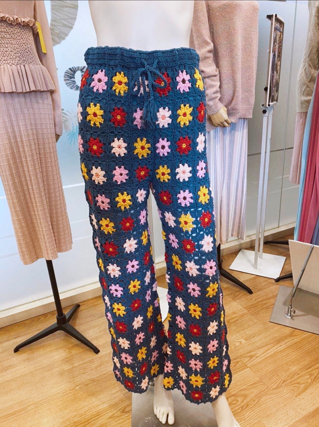 Flower Sprinkles Crochet Pants