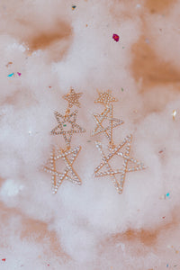 Star Sketch Dangle Earrings