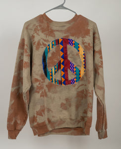 Brown Peace Out Crew Neck