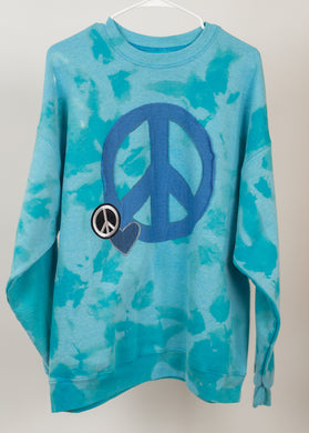 Blue Peace Out Crew Neck