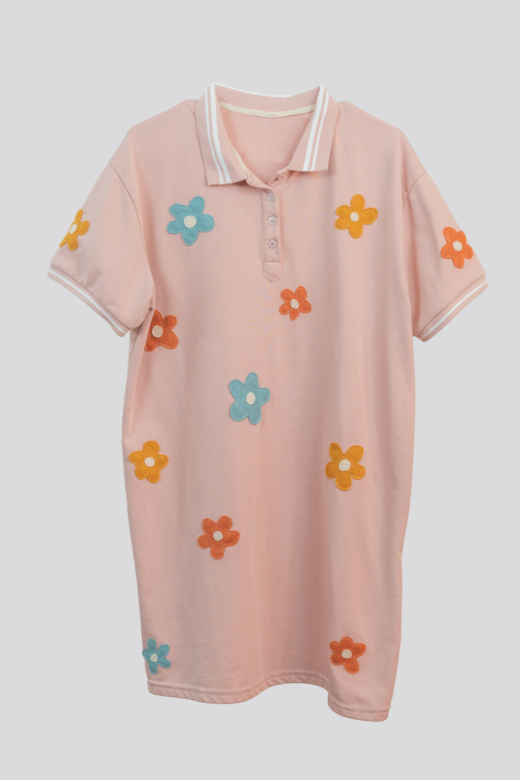 Daisy Darling T Shirt Dress (Pink)