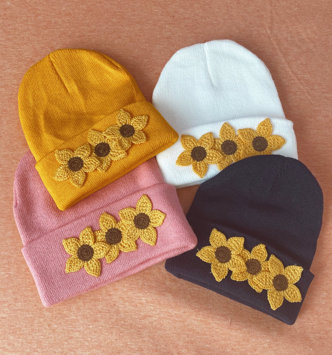 Summer Sunflower Beanies