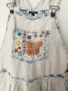 Social Butterfly Embroidered Overalls