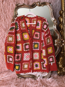 Candy Hearts Granny Square Cardigan