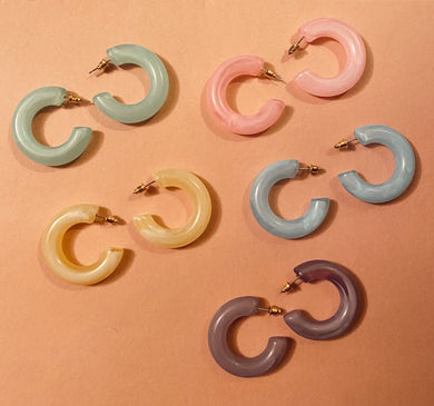 Cotton Candy Hoops