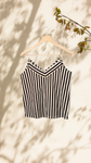 Chhaya Tank Top - Lux BW Stripes