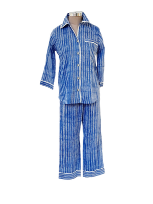 Blue Stripe PJ Set