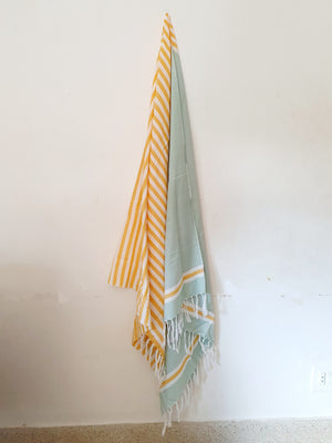 Aqua Towel with Tassels