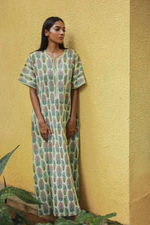 Short Sleeved Diya Nightgown
