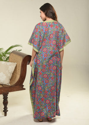 Blue Jungle Caftan