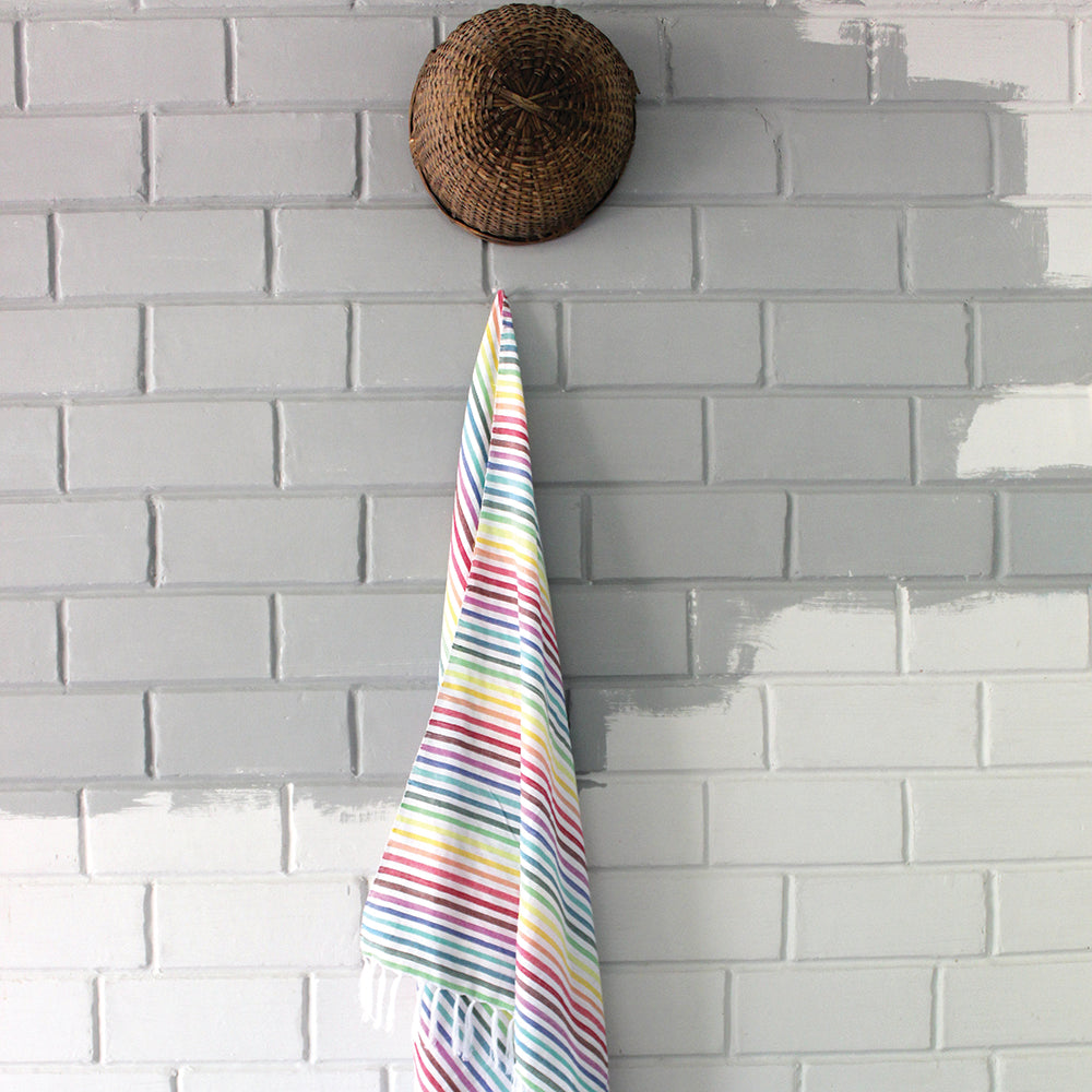 Rainbow Stripes Bath Towel