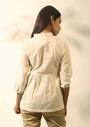 Embroidered Yoke Tunic