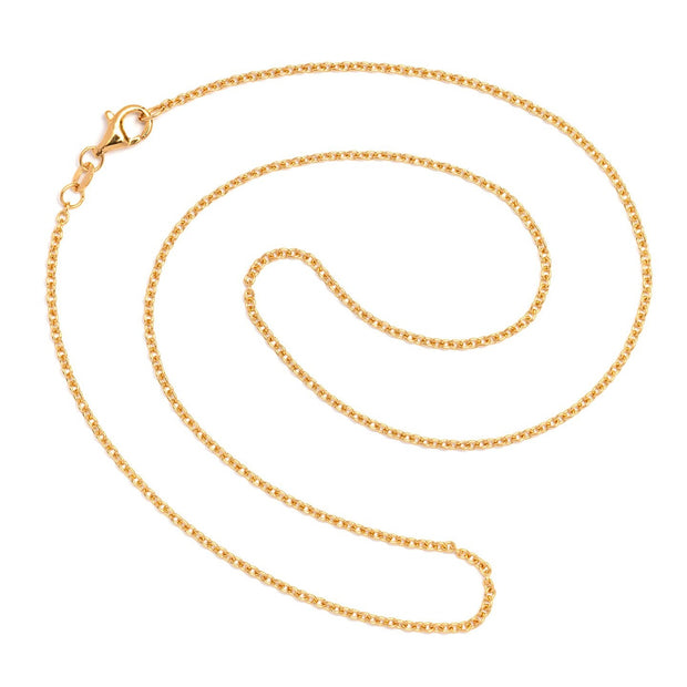 Round Anchor Chain Gold Plated