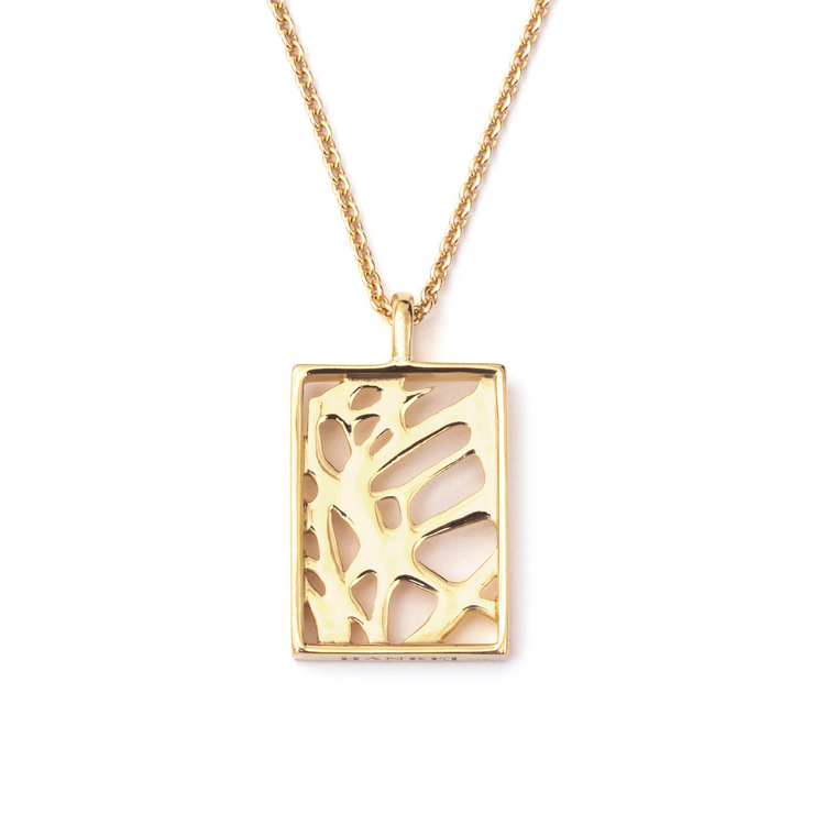 Square Pendant - Gold Plated