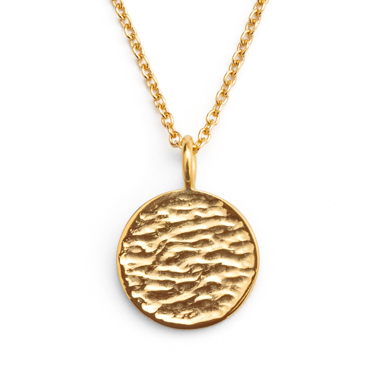 Round Pendant - Gold Plated