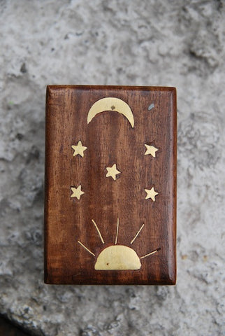 Sun and Moon Ring Box