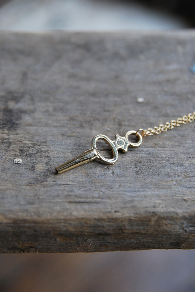 Clock Key Necklace