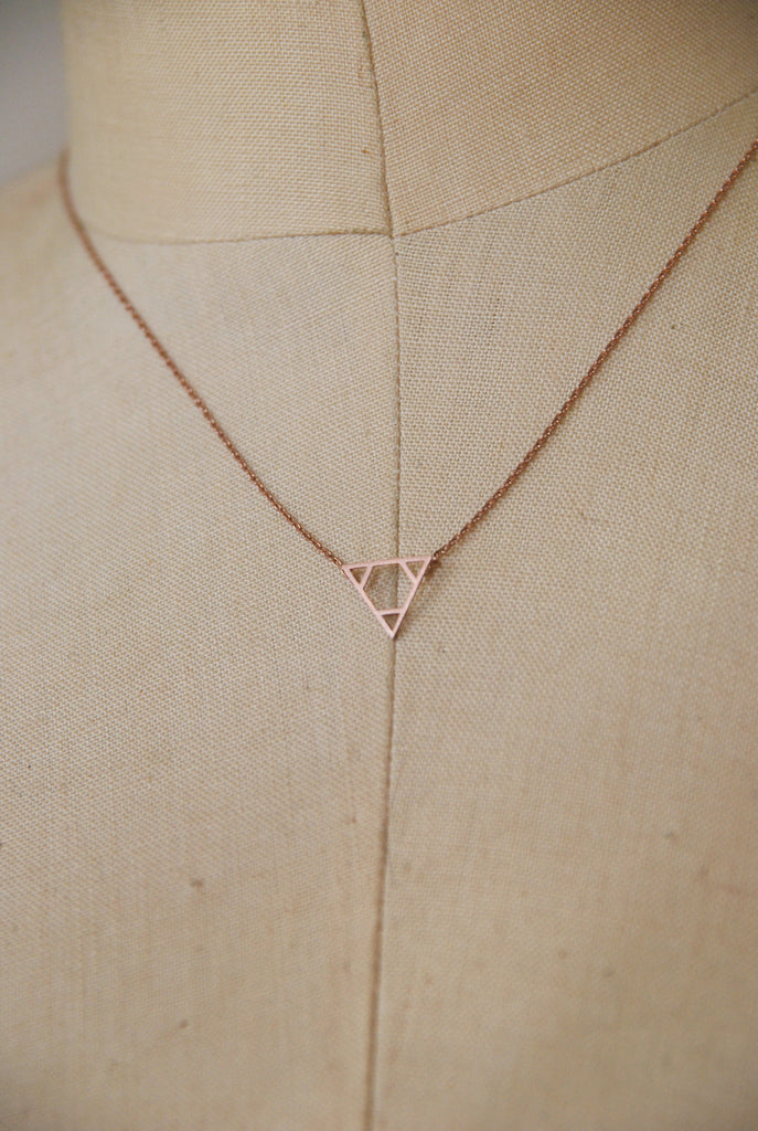 Aliza Triangle Necklace