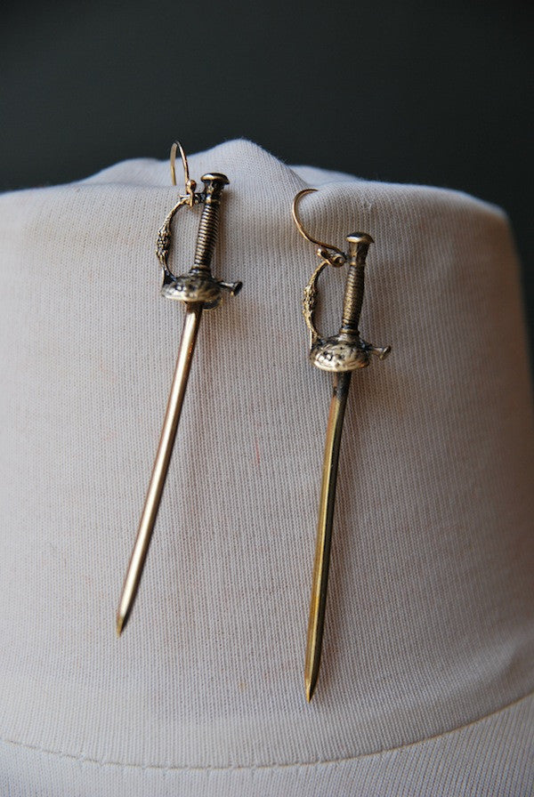 Sword Earrings