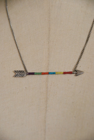 Threaded Arrow Necklace
