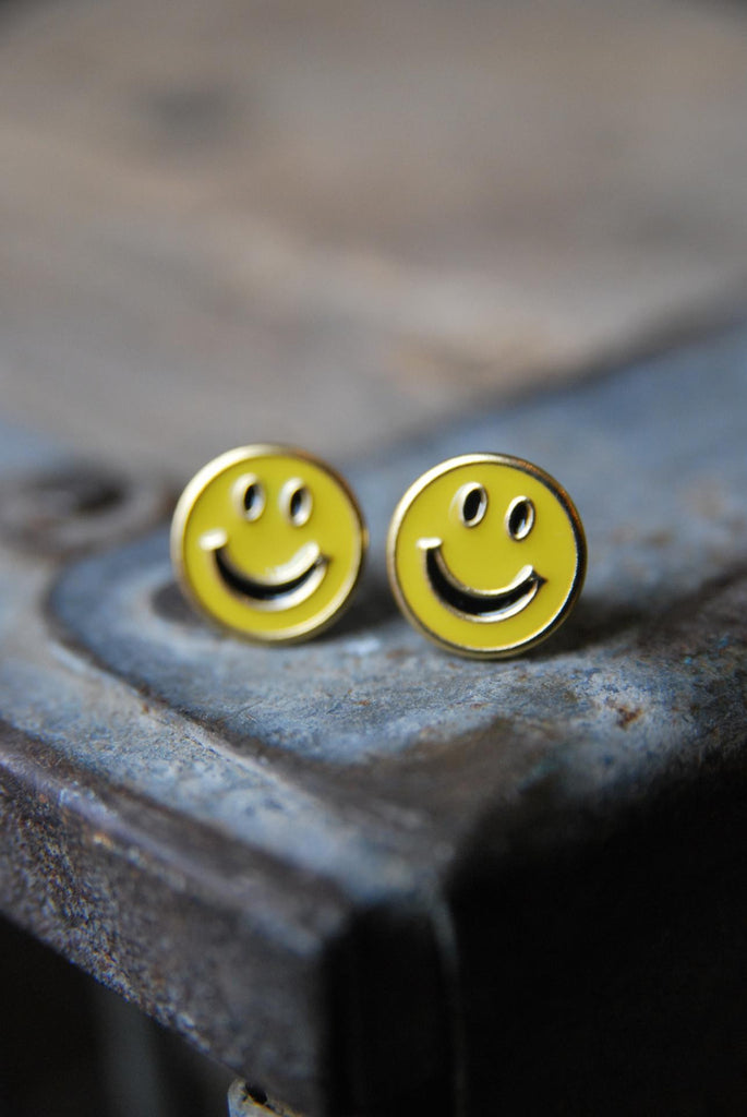 Smiley Face Studs
