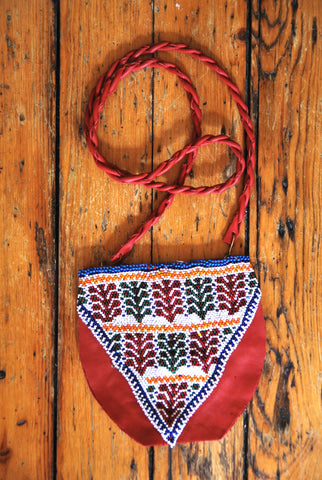 Crimson Beaded Bag