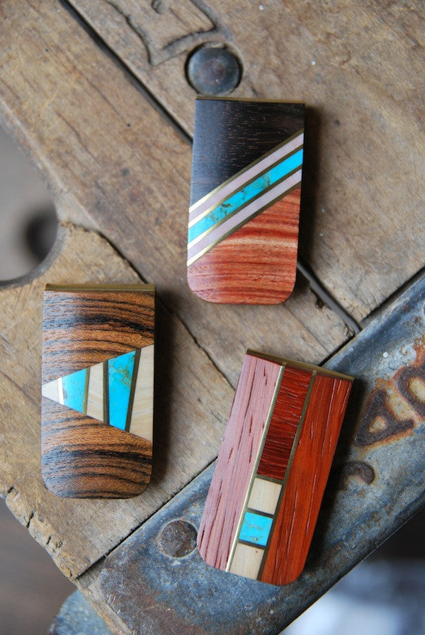 Wood Inlay Money Clips