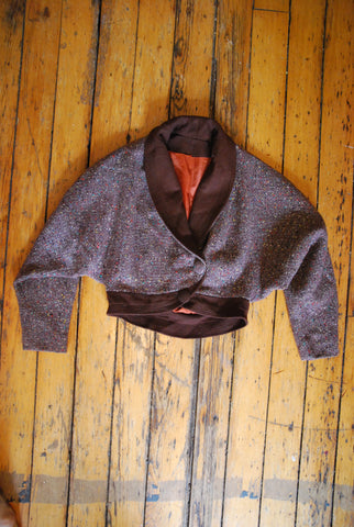1940's Tweed Cropped Dolman