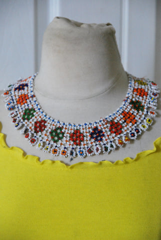 Daisy Chains beaded Necklace