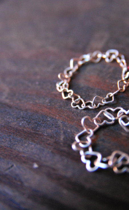 Heart Chain Rings