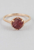 Rough Garnet Dish Ring