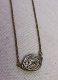 Enameled Evil Eye Neckace