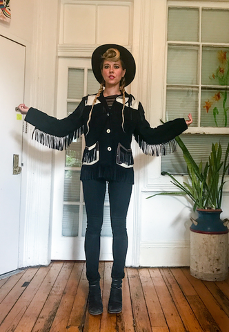 Cow Hide Fringe Jacket