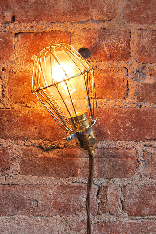 Brass Cage Light