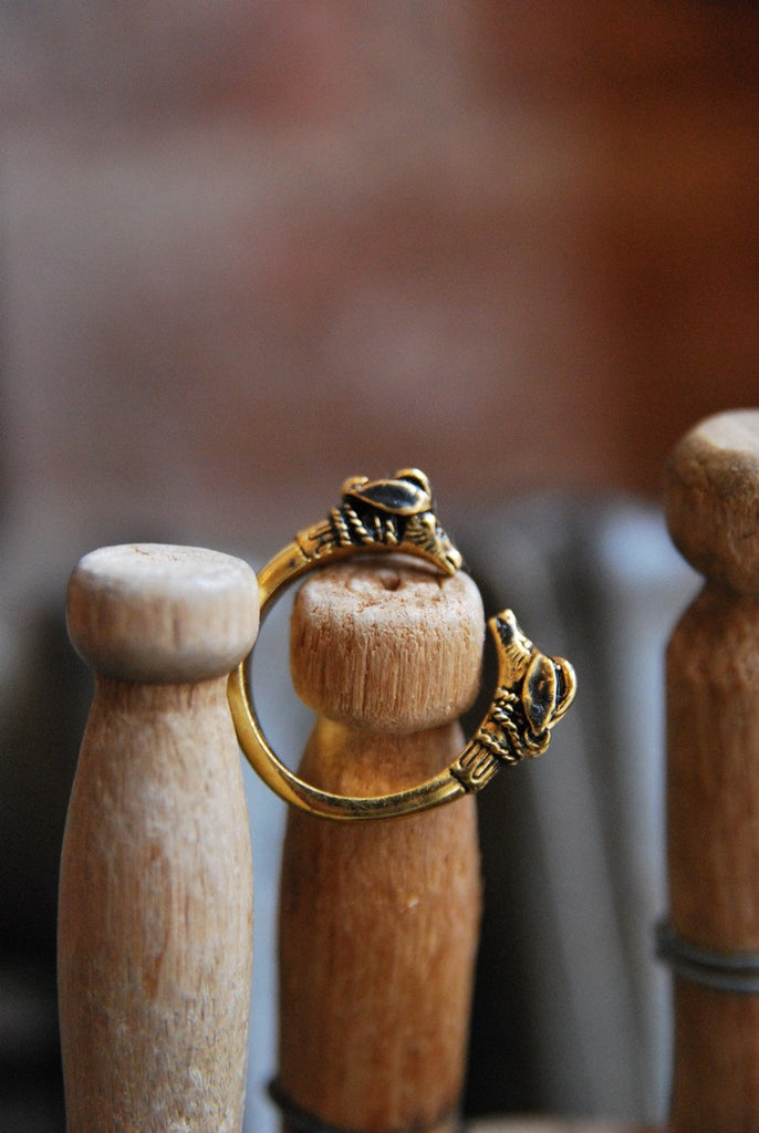 Victorian Double Ram Head Ring