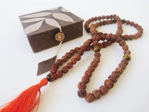 Rudraksha Mala with Tiger Eye