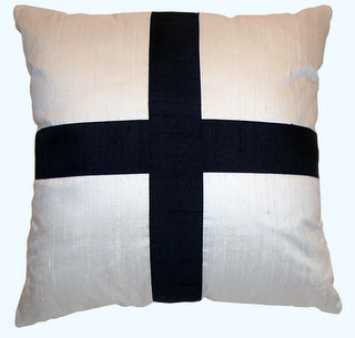 "Decorative Pillow Cover ""Black Cross"""