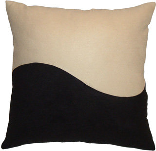 "Accent Pillow ""Cream Wave"""