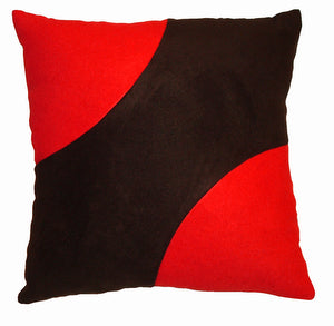 "Decorative Accent Pillow ""Red Corners"""