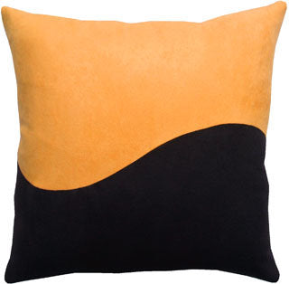 "Decorative Pillow ""Yellow Wave"""