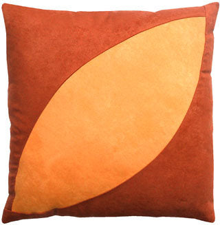 "Decorative Throw Pillow ""Yellow Bean"""