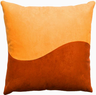 "Decorative Toss Pillow ""Saffron Wave"""