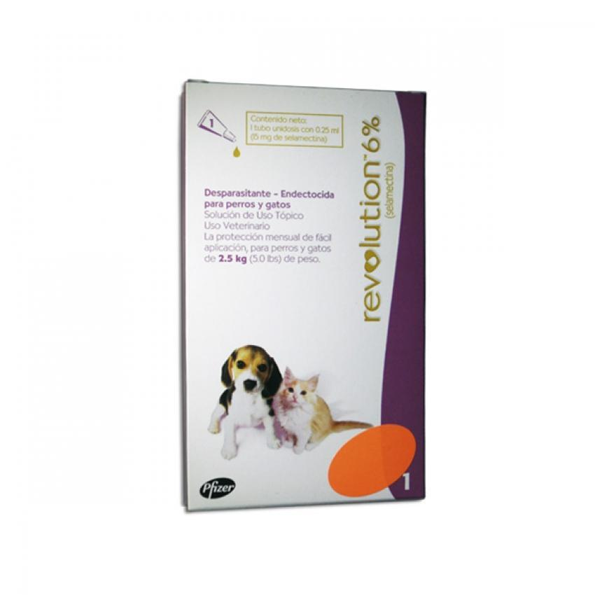 REVOLUTION 6% CACHORROS Y GATITOS 0,25 ML